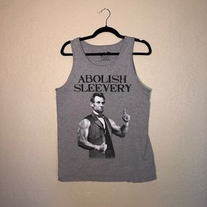 """Abolish Sleevery"" Abraham Lincoln Graphic Tank"